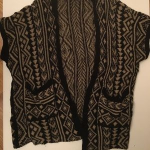 Forever 21 Sweaters - Forever 21 Brown/black open front cardigan